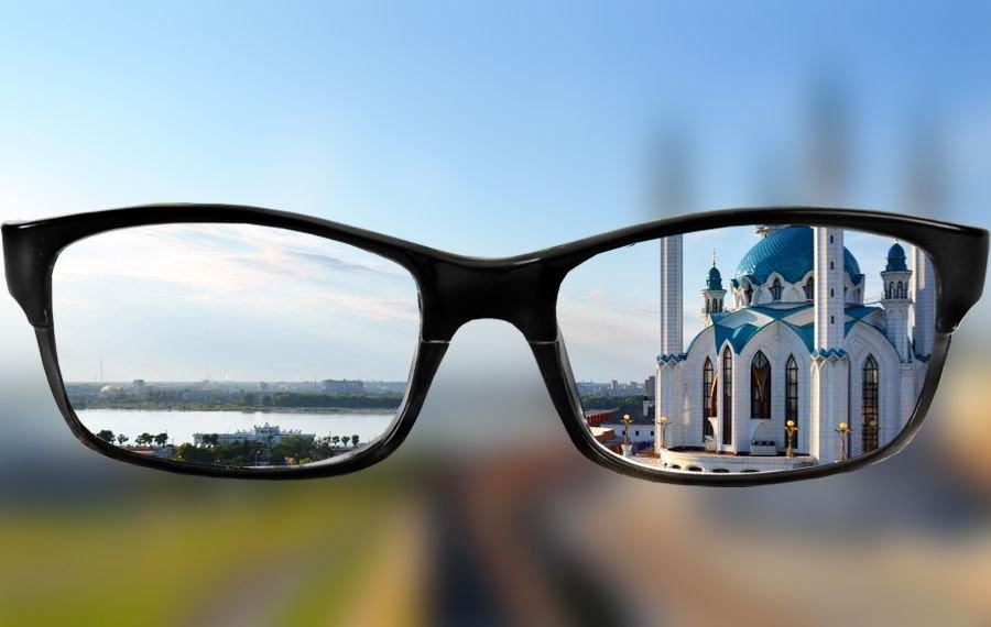 зрение при близорукости (миопии)